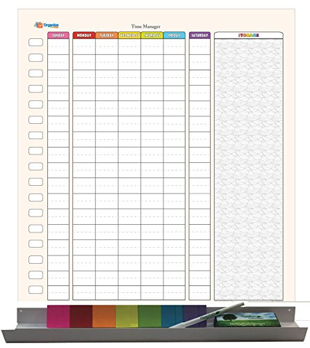 Sticky-note Weekly Time Manager Kit: Mon-Fri with Weekend 24 in. tall X 19 in. wide