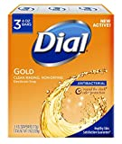 Dial Antibacterial Deodorant Soap, Gold, 4-Ounce Bars, 3 Count ( Pack May Vary )