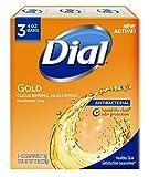 antibacterial Dial Antibacterial Deodorant Soap, Gold, 4-Ounce Bars, 3 Count ( Pack May Vary )