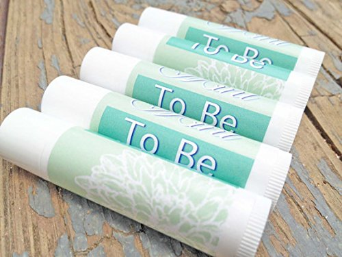 12 Mint To Be Wedding Favor Lip Balms - Lip Balm Wedding Favors - Mint to Be - Bridal Shower Favors (Vanilla) Bridal Shower Lip Balm