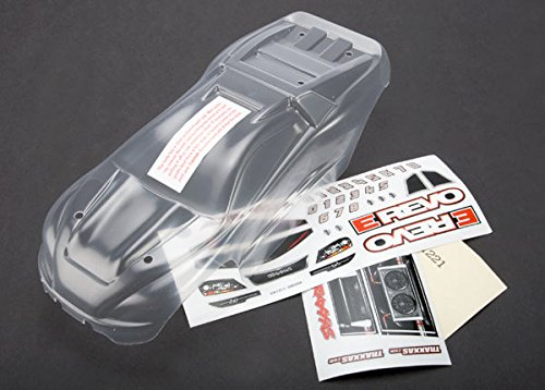 Traxxas 7111 1/16 Clear E-Revo Body with Decal Sheet