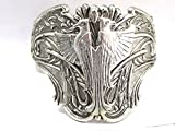 Egyptian Phoenix or Falcon Silver cuff Silver Cuff Egyptian Revival Double eagle