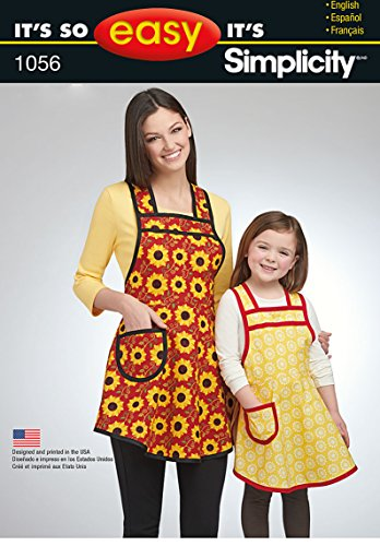 Simplicity Creative Patterns US1056A Its So Easy Mother Daughter Aprons, Size A (S-L/S-L) ()