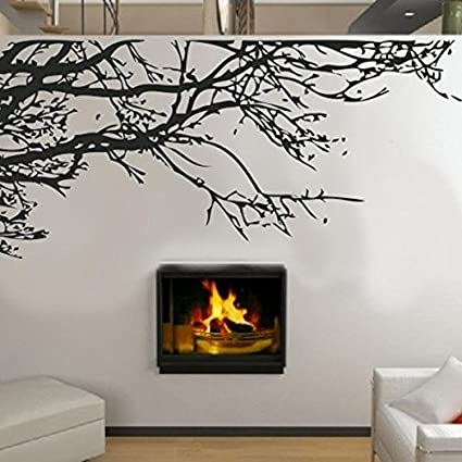 Black Branches Wall Stickers DIY Black Tree Wall Sticker Removable Room Decal  Wall Sticker Home Decor