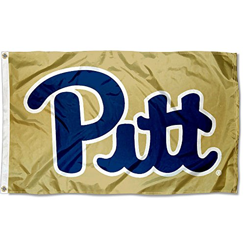 College Flags and Banners Co. Pittsburgh Panthers Gold - Panthers Pittsburgh Metal