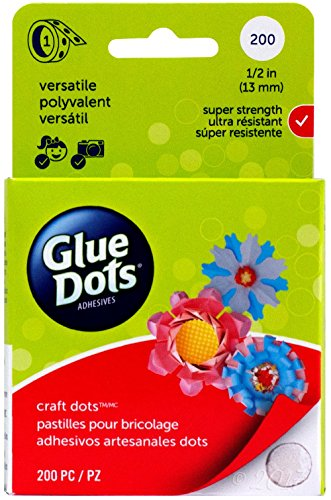 Glue Dots Craft Roll, Contains 200 ( .5 Inch) Adhesive Craft Dots (Glue Gift)