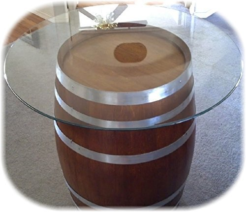 Amazon Com Decorative Table Wine Barrel With Glasstop