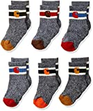 Carhartt Baby Boys Camp Crew Sock-6 Pair Pack, natural, tan, orange, red, brown, Shoes Size: 1.5-4 (6-18 Months)