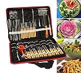 Accguan Set Portable W Box Vegetable Fruit Food Peeling Carving Tools Kit With Bag Pack (80pcs)