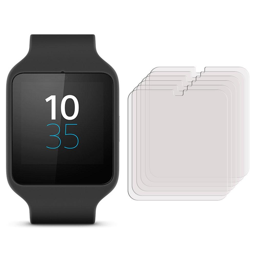 Membrane 3 x Protector de Pantalla compatibles con Sony Smartwatch 3 (SWR50) - Ultra Transparente