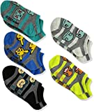 Pokemon Boys' Big 5 Pack No Show, Fits Sock Size