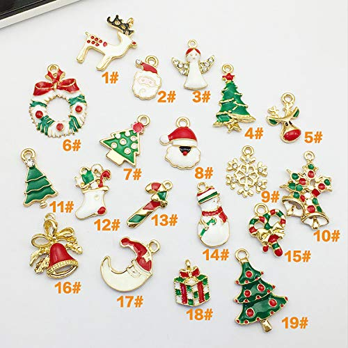 (Christmas Resin Art Accessory - 30 Pcs Mix Lots Resin Flatback Flat Back X'Mas Christmas Santa Tree Claus Snowman Snowflake Jingle Bell Sock Craft Embellishment (Assorted Pattern) (38))