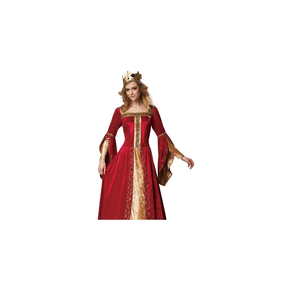 HGM Costume Womens Renaissance Queen, Red/Gold, X Large