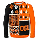 Klew NCAA Busy Block Sweater, Large, Oklahoma State University
