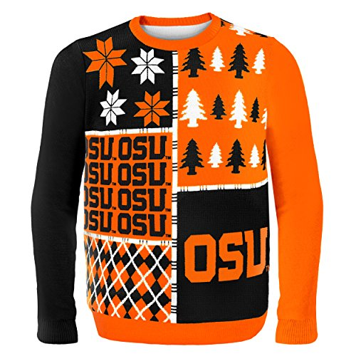 Klew NCAA Busy Block Sweater, Medium, Oklahoma State University (Basketball State Oklahoma)