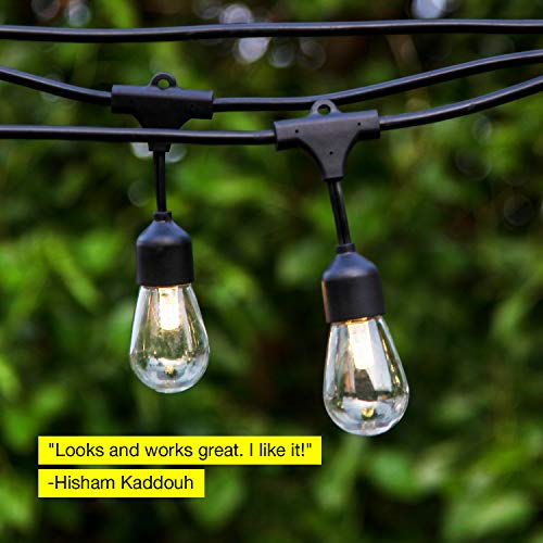 Brightech Ambience Pro -Waterproof Solar LED Outdoor String Lights - Hanging 1.5W Vintage Edison Bulbs 27 Ft Commercial Grade Patio Lights Create Bistro Ambience In Your Backyard, On Your Porch by Brightech (Image #2)