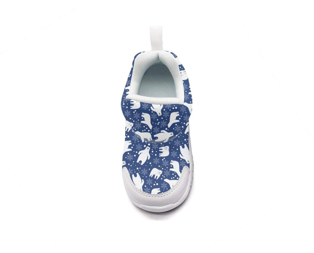ONEYUAN Children Large Polar Bear with Snow Kid Casual Lightweight Sport Shoes Sneakers Running Shoes
