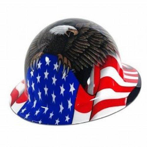 Spirit of America Hard Hat - Full Brim - FMX Fibre Metal by Fibre-Metal Hard Hat Honeywell