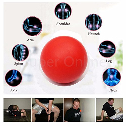 Tink knub 1pc Liplasting Yoga Ball Gym Fitness Massage Lacrosse Therapy Trigger Point Body Exercise Sports Muscle Relax Relieve Fatigue Roller/Orange color