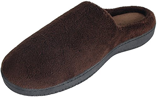 SANDALUP Women's & Men's Coral Velvet House Slippers Brown (Qute Couple)
