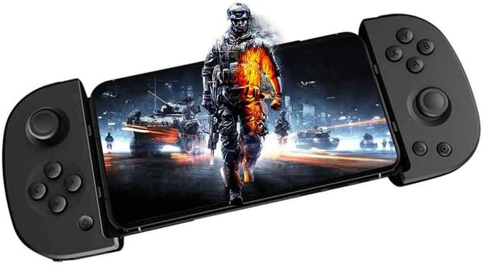 YT controlador de juego móvil inalámbrico Bluetooth Gamepad, telescópico de conexión de juego de clip Joystick para Android iOS compatible con PUBG Asphalt 9- No compatible con iOS 13.4