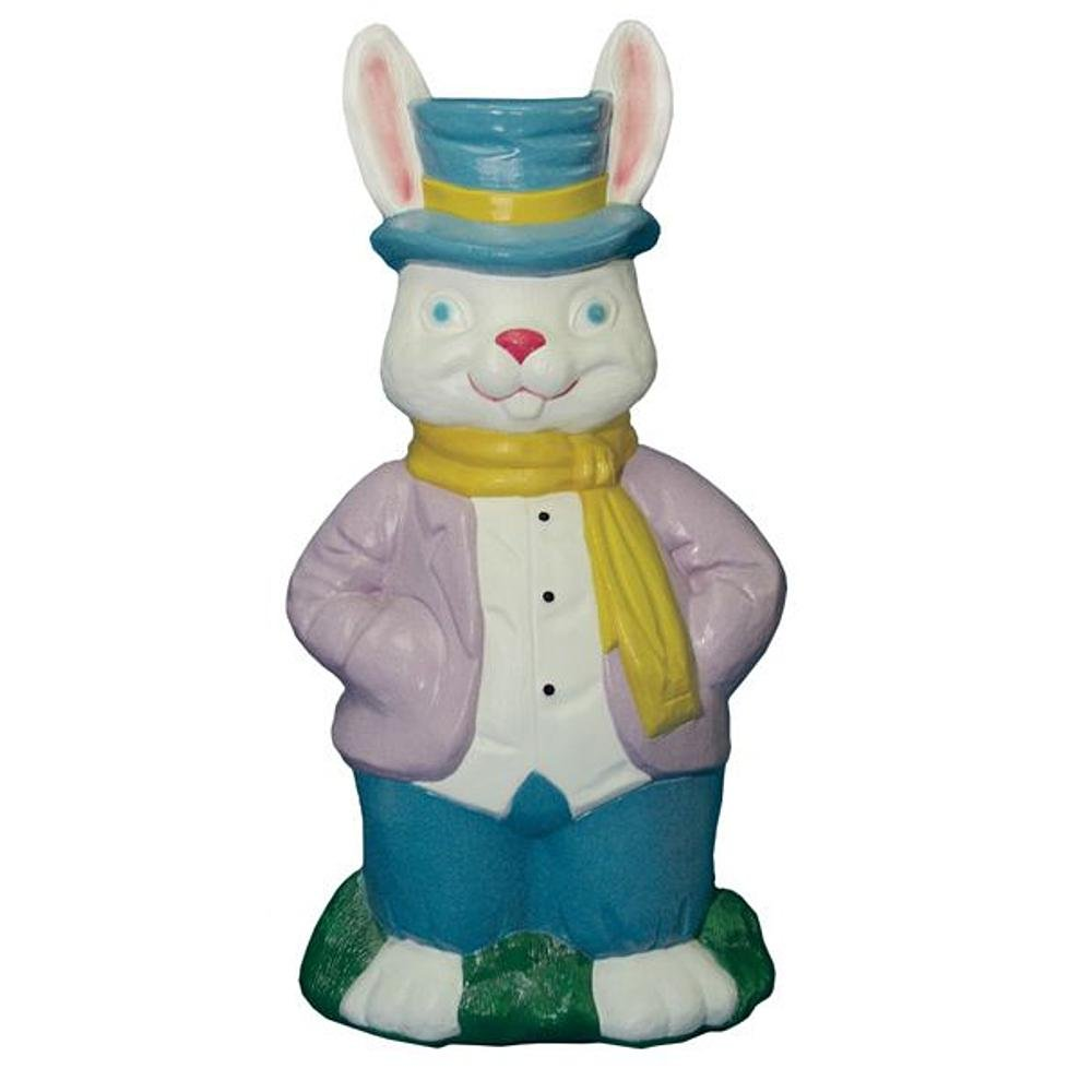 Mr. Rabbit Easter Bunny Light-up Blow Mold Home Decor, Outdoor or Indoor Festive Spring Lighted Decoration, Yard, Deck, Patio or Garden by general faom