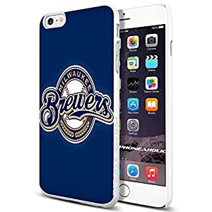 MLB Milwaukee Brewers Baseball,Cool iPhone 6 Plus (6+ , 5.5 Inch) Smartphone Case Cover Collector iphone TPU Rubber Case White by runtopwell