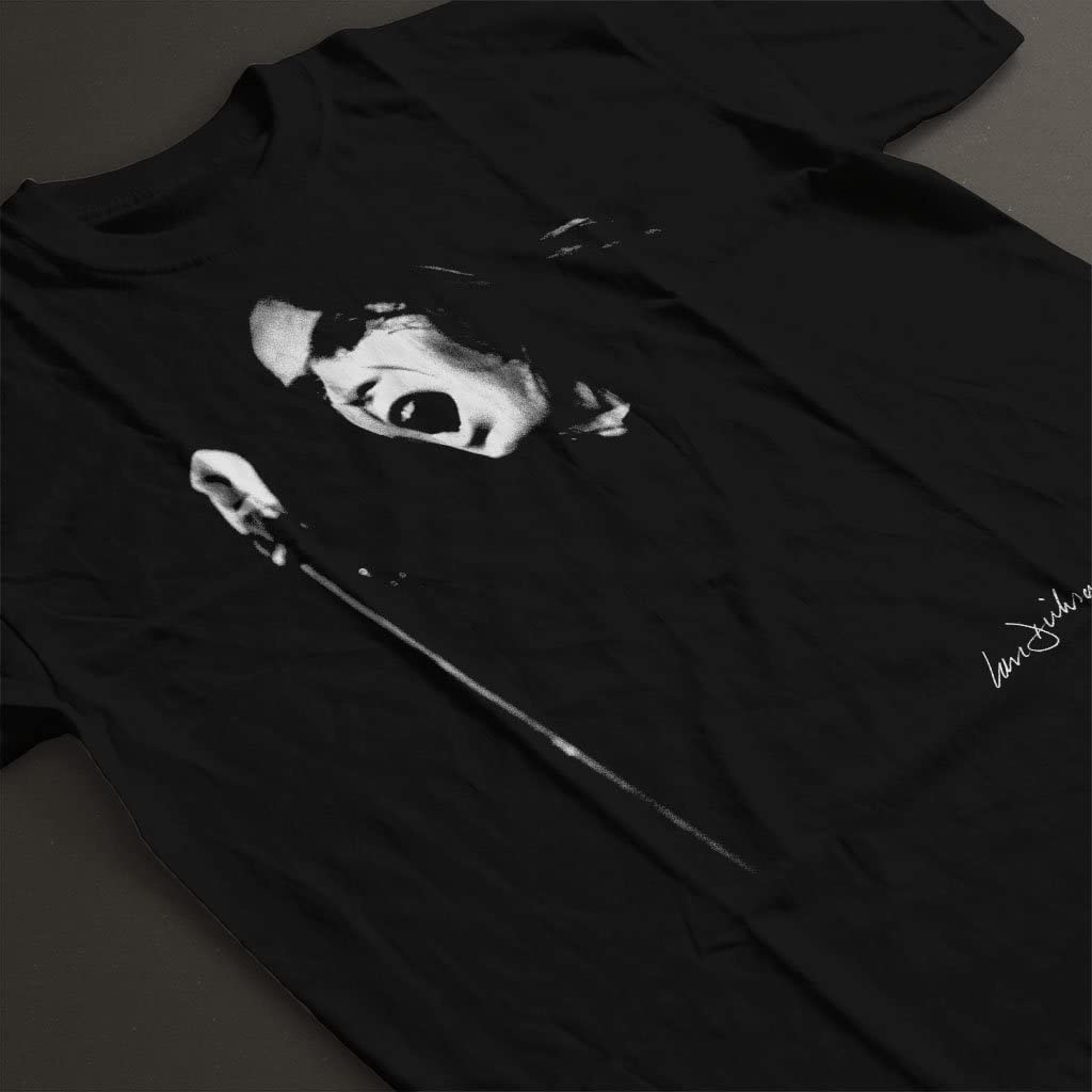 Peter Gabriel of Genesis at Newcastle City Hall 1973 Mens T-Shirt Ian Dickson Official Photography