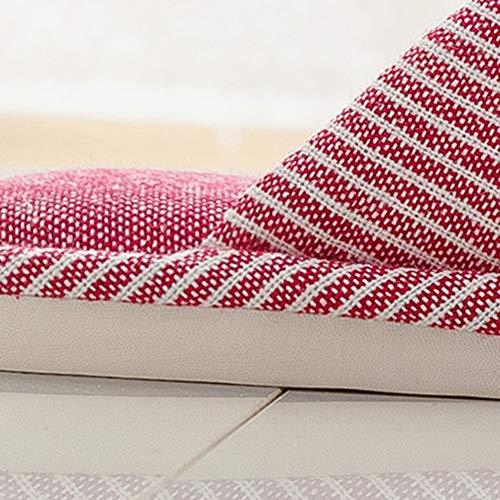 Bas Ms En Et Style Maison Taille La Pink Antidérapant Td Red À Intérieur Coton Plancher Japonais Slipper 37 Bois Hiver 38yards couleur Axq6Ov