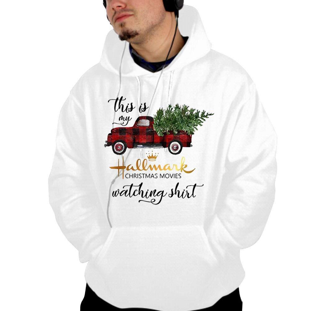 ZEGAILIAN This is My Hallmark Christmas Movie Watching Hoodie Hooded Sweatshirt for Men Women