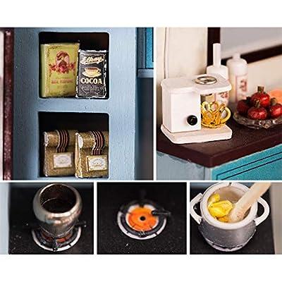 Ochine Creative DIY Assembly Cabin LED Light Warm Modern Style Assembled Model Mini Doll House Romantic Art Gift: Arts, Crafts & Sewing