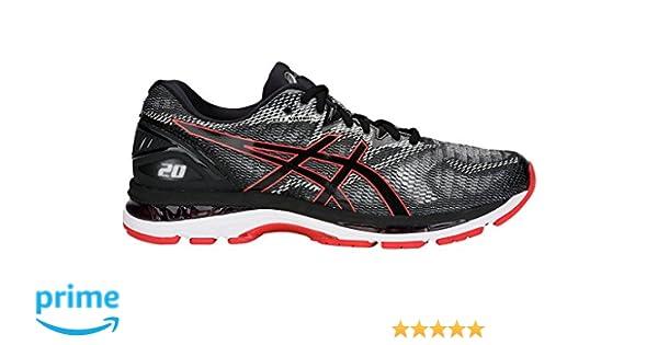 Amazon.com | Gel-Nimbus 20 Mens Running Shoe, Black/Red Alert, 13 D(M) US | Road Running