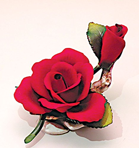 Capodimonte Red Rose and Bud