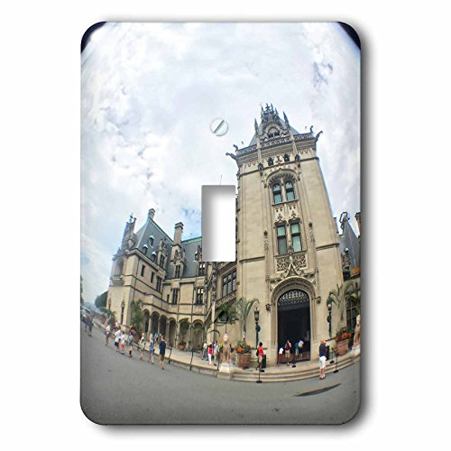 Lenas Photos - Travel - Fish Eye View of Biltmore Estate - Light Switch Covers - single toggle switch (lsp_235614_1) by 3dRose