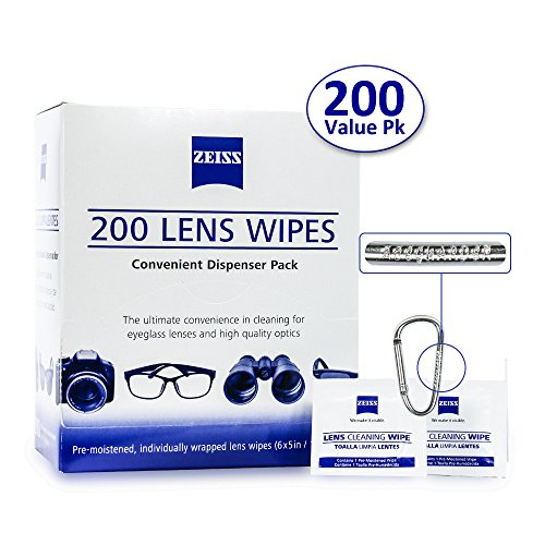 Zeiss Pre-Moistened Lens Cleaning Wipes - Cleans Bacteria, Germs and without Streaks for Eyeglasses and Sunglasses-(225 - Eyeglass Lens Reviews