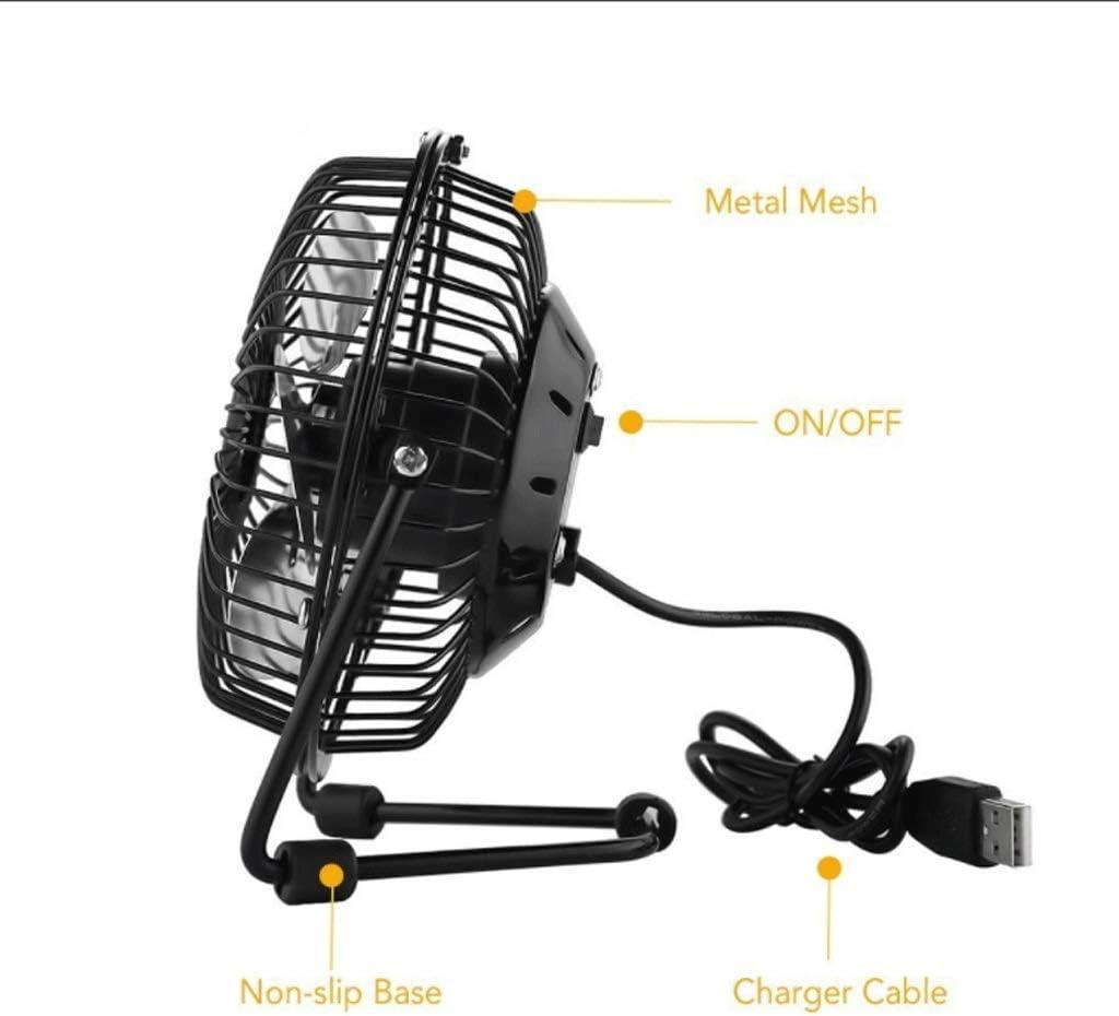 Portable Fan JYLJL Mini USB Desk Cooler Fan, Black,Removable Fan Metal Design, Large Air Flow, Quiet Operation