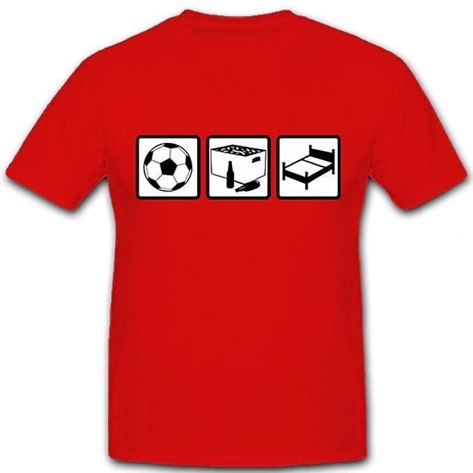 Copytec Fútbol Beber Dormir Hobby Muñeco vago CHILLEN TV FUN Humor Diversión - Camiseta # 12741: Amazon.es: Ropa y accesorios