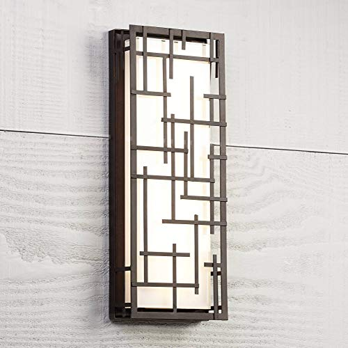 - Modern Lines Outdoor LED Wall Light Designer Lines Bronze Exterior 6 1/4