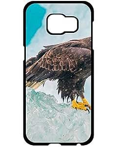 Samsung Galaxy S6 Case 2506389ZE987317733S6 New Style Samsung Galaxy S6/S6 Edge Case Cover Skin : Premium High Quality Hawk Bird Sitting On Rock Case
