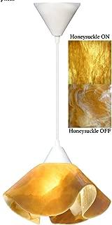 product image for Jezebel Signature Lily Pendant Large. Hardware: White. Glass: Honeysuckle