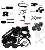 14 Pcs Cosplay Leather Costume Set with Dice(Black)