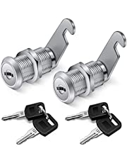 【Upgrade】Cabinet Cam Lock Set, 2 Pack Keyed Alike 30mm Cam Locks Secure Your File Cabinet and Drawer, RV Door, Mailbox,Tool Box, Drawer and More-【Finish Zinc Alloy】 (2)