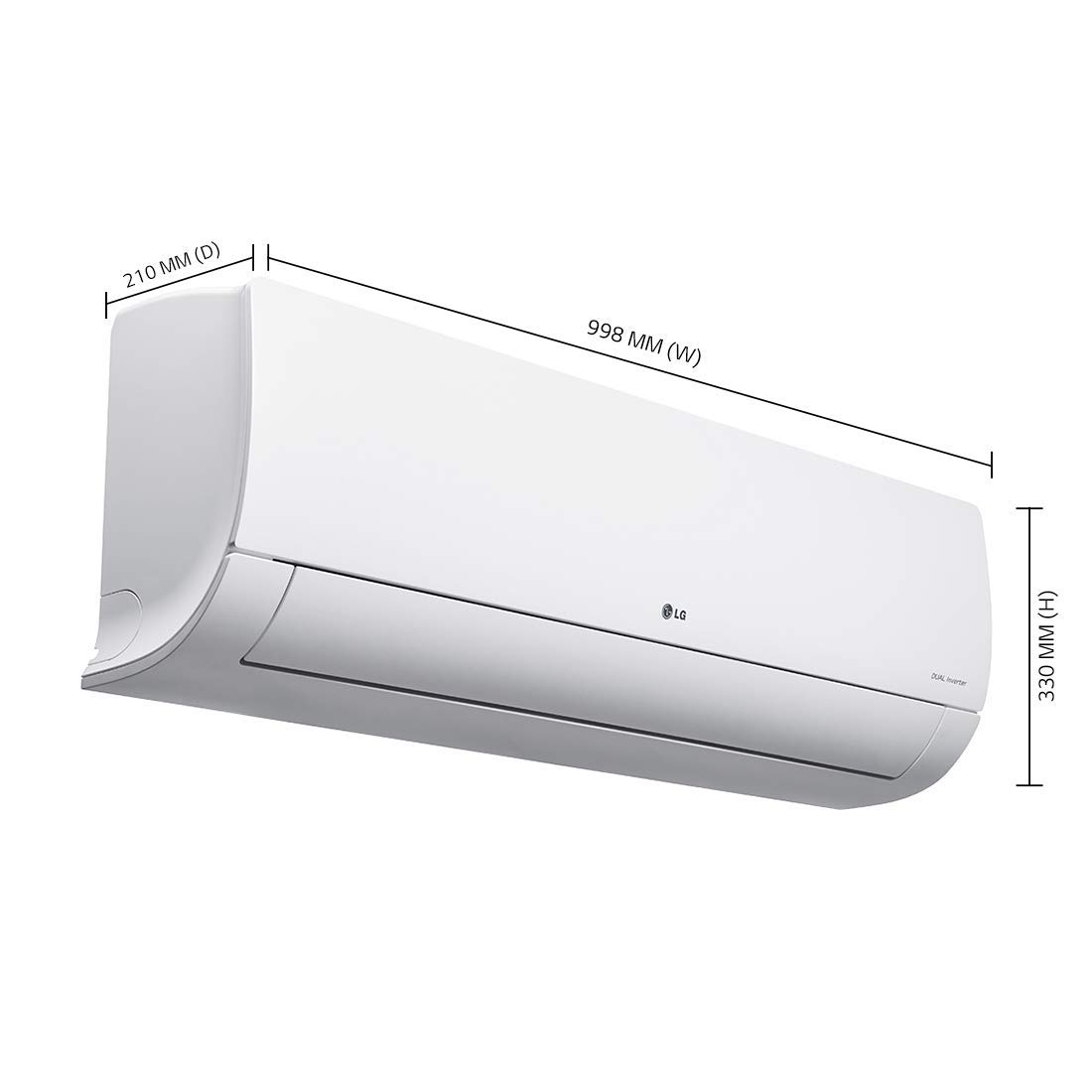 LG 2 Ton Active Energy Control 3 Star Inverter Split AC Copper, KS-Q24ENXA
