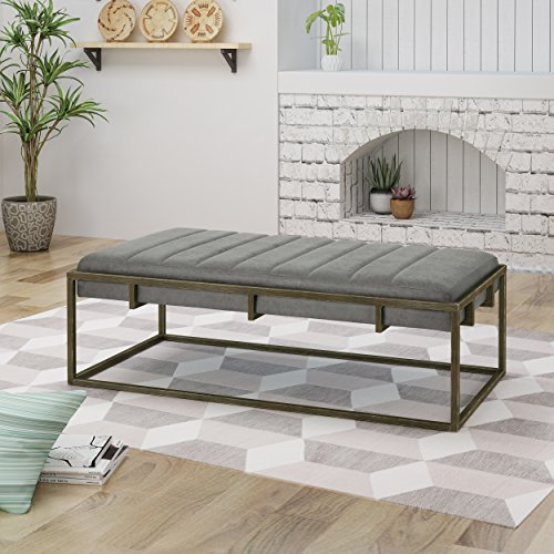 ad9cf3be36b6b Christopher Knight Home 305090 Vassy Modern Velvet Ottoman Bench ...