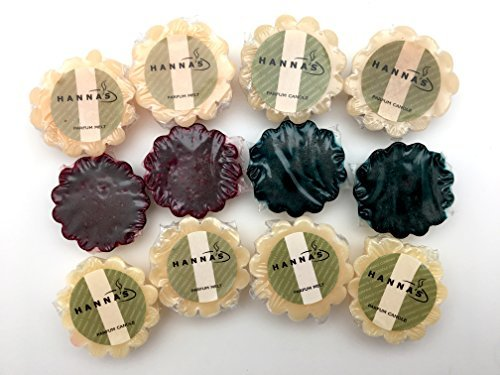 Hanna's Set of 12 Scented Simmer Melts - Tarts Bundle Hannas Candle Set