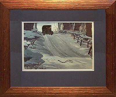 101 Dalmatians, 1961 Vintage Animation Production Model Cel Rare Framed. Walt Disney Studios
