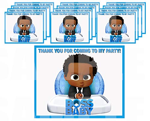 Black Boss Baby Stickers Party Favors Supplies Decorations Gift Bag Label Stickers ONLY 3.75