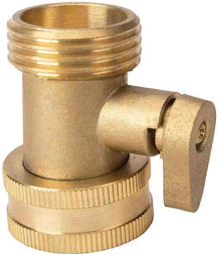 manguera de jard/ín con v/álvula de cierre de tuber/ía de agua Conector de lat/ón de 1,9 cm adaptador de grifo roscado Yamysalad riego de jard/ín para tuber/ía de agua para tuber/ía