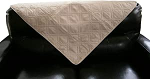 """Bonded Micro Suede Quilted Sectional Deep Seats Sofa Slipcover Pad Furniture Protector Sold By Piece Rather Than Set (Peat, 35x35"""")"""