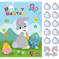 Ccinee Pin the 36 Tails and Bunny Eye Mask Rabbit Party Game